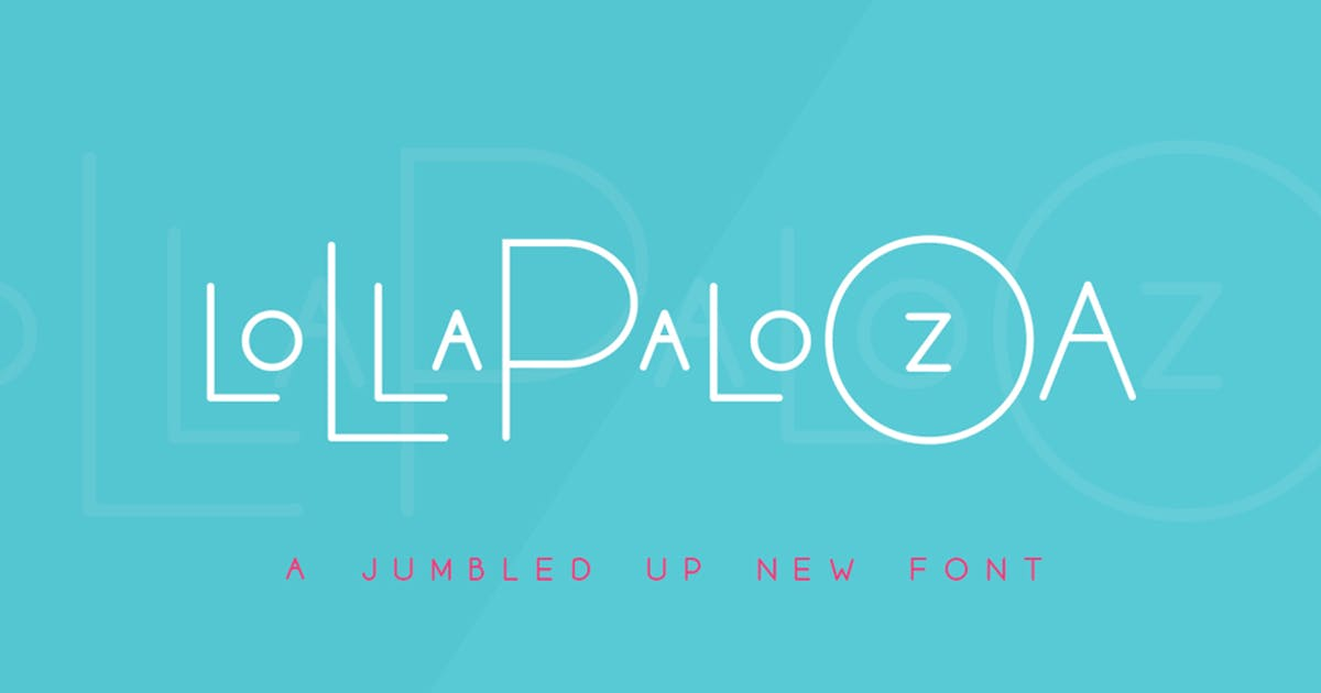 Download Lollapalooza Font Trio by maroonbaboon