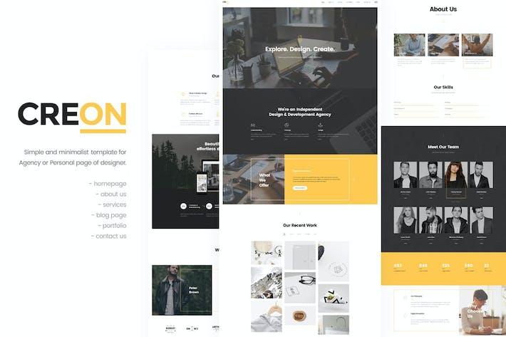 Thumbnail for Créon - Modèle HTML professionnel