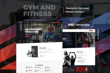 Maco | Gym and Fitness PSD Template