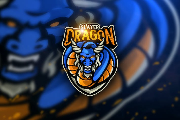 Thumbnail for Dragon Slayer - Mascot & Esport Logo