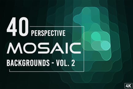 40 Perspective Mosaic Backgrounds - Vol. 2