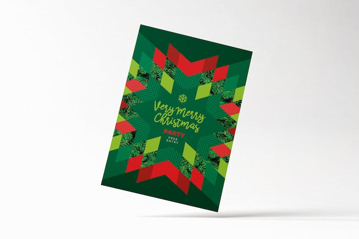 Thumbnail for Modern Merry Christmas Card