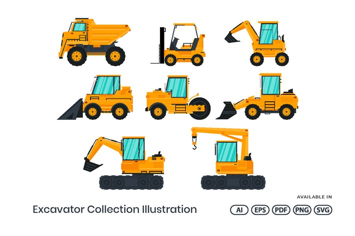 Thumbnail for Excavator Construction Illustration