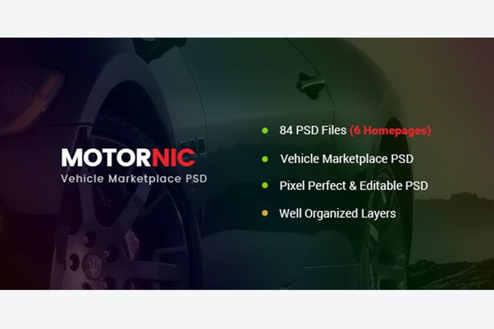 Thumbnail for MotorNic - Vehicle Marketplace PSD Template