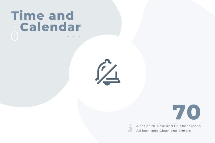 Cover Image For 70 Time and Calendar icon set - Material