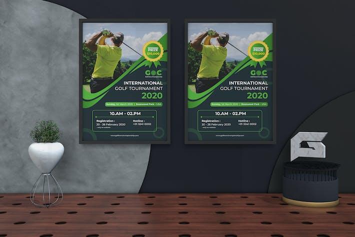 Thumbnail for Golf Tournament Flyer & PosterTemplate