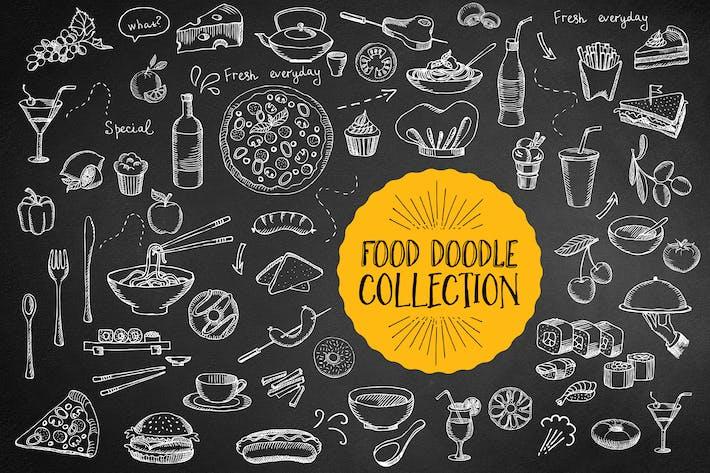 Thumbnail for Elementos de Doodle de Alimentos