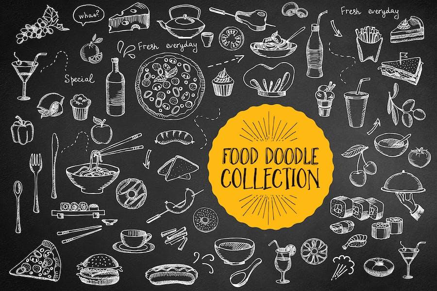 Food Doodle Elements