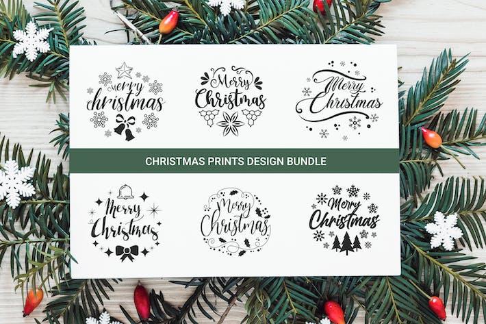 Thumbnail for Christmas Typography Set