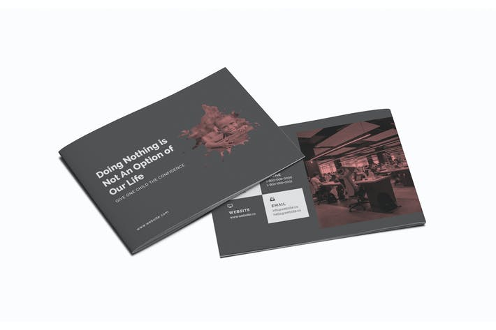 Thumbnail for Charity A5 Brochure Template