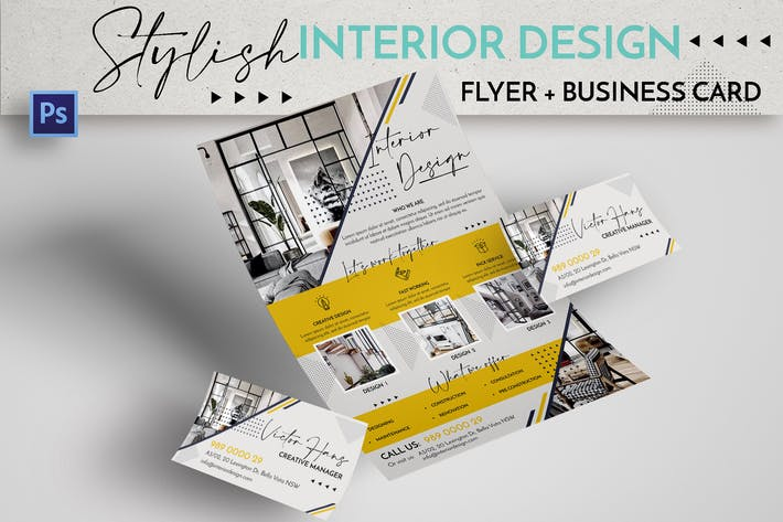 Thumbnail for Stylish Interior Design Flyer