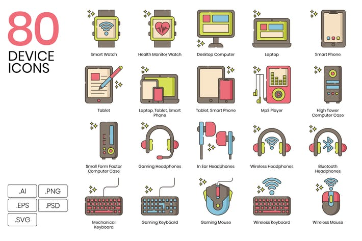 80 GerätelinienIcons