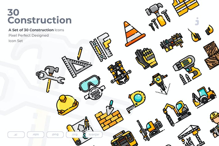 Thumbnail for 30 Construction Icons