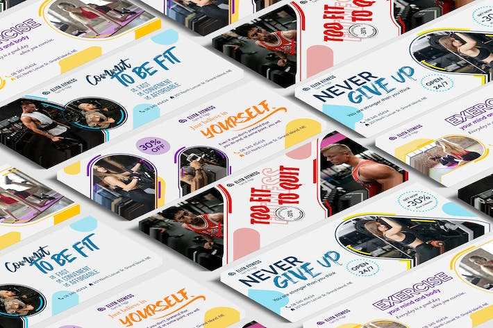 Thumbnail for Fitness, Yoga FB Cover PSD Template
