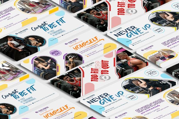 Thumbnail for Fitness, Yoga FB cubierta Plantilla PSD