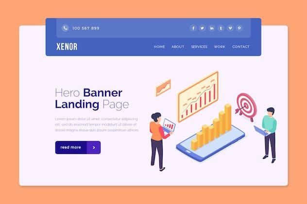 Xenor - Hero Banner Template
