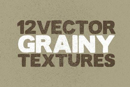Vektor körnige Texturen x12