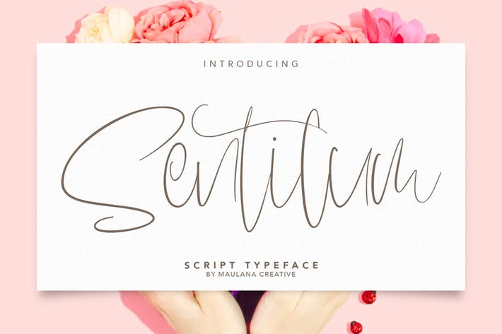 Thumbnail for Sentilum Script Calligraphy Handmade Font Typeface