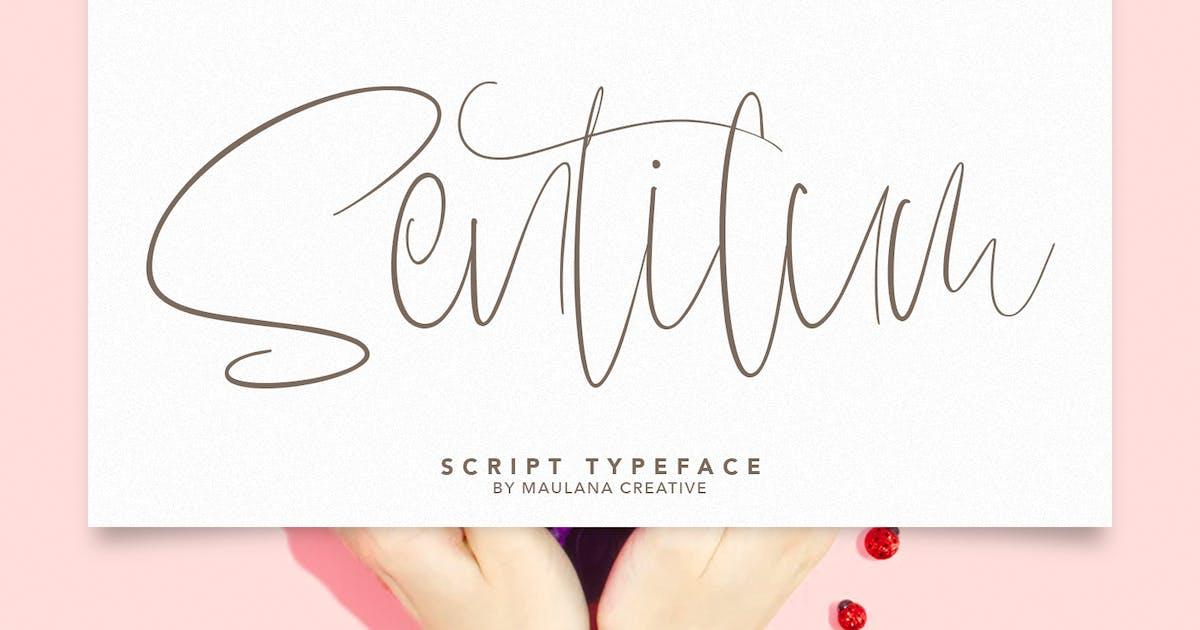 Download Sentilum Script Calligraphy Handmade Font Typeface by maulanacreative