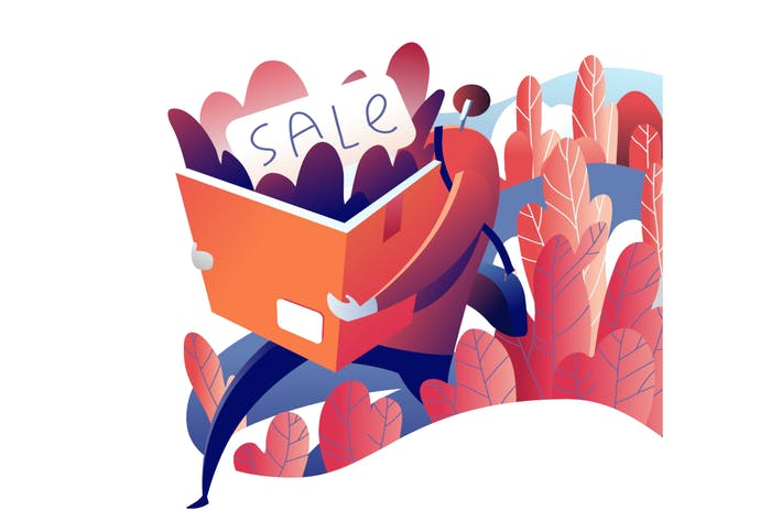 Thumbnail for Autumn Sale people illustration