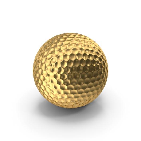 Golf Ball Gold