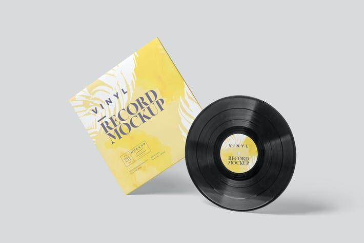 Thumbnail for Vinyl Record Mockup Templates