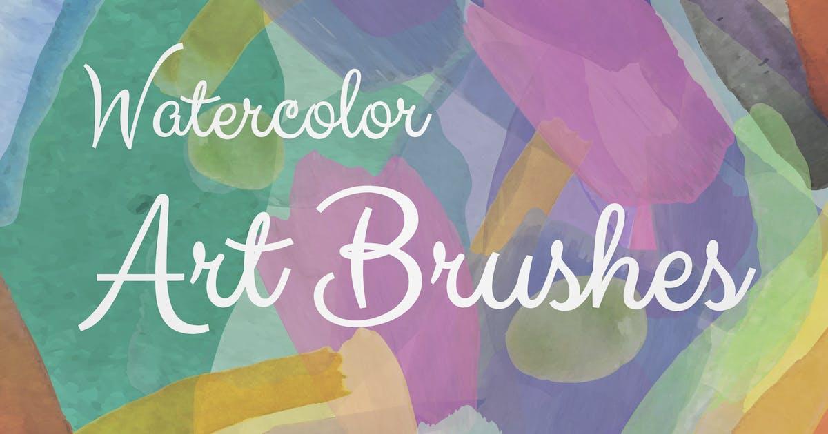 Download Watercolor Illustrator Art Brushes by helga_helga