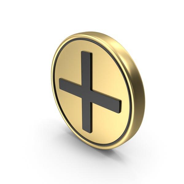 Плюс медицинский знак монеты символ значка