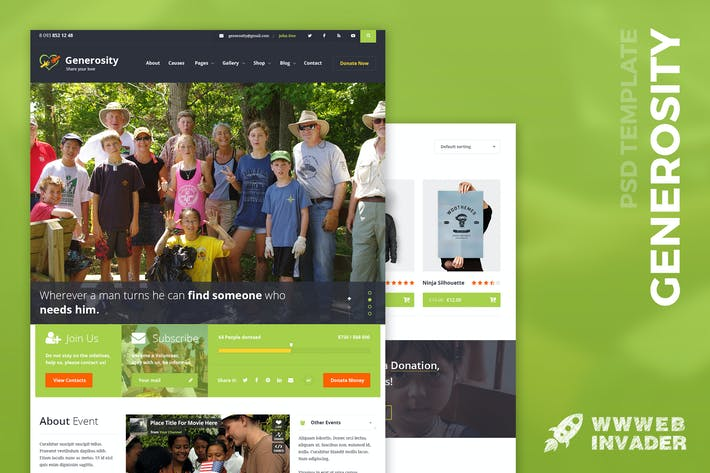 Thumbnail for Generosity - Charity/Nonprofit PSD Template