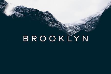 BROOKLYN - Caractère géométrique sans empattement minimal