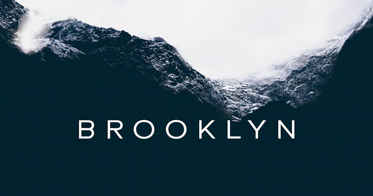 Download BROOKLYN - Minimal Geometric Sans-Serif Typeface by designova