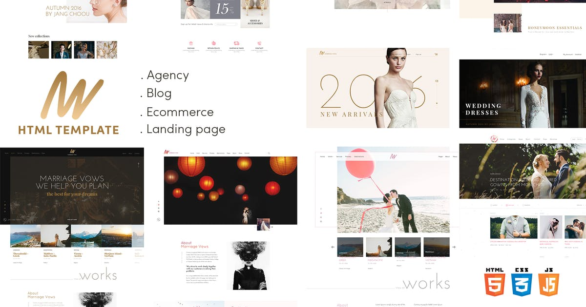 Download The VOW | Wedding Responsive HTML Template by EngoTheme