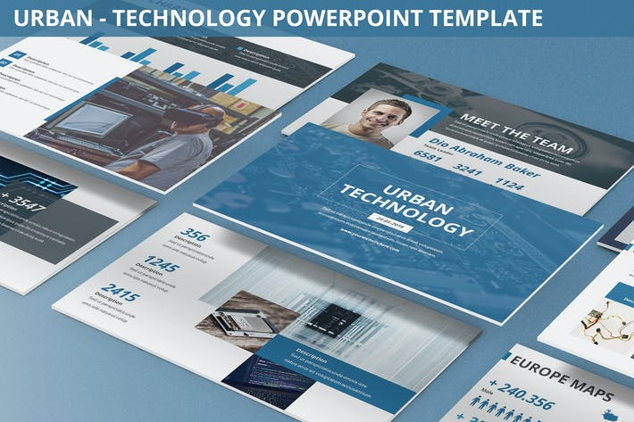 Thumbnail for Urban - Technology Powerpoint Template