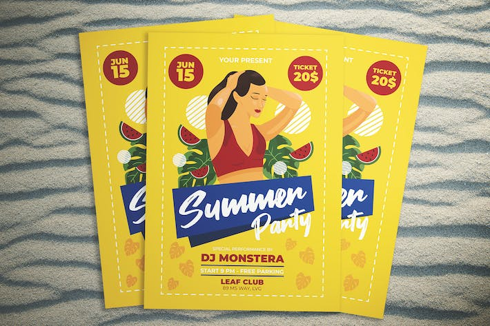 Thumbnail for Summer Fun Party Flyer