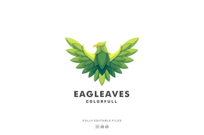 Thumbnail for Eagle Leaves Colorful Logo