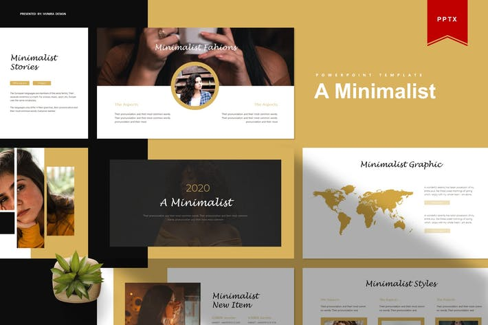 Thumbnail for A Minimalist | Powerpoint Template