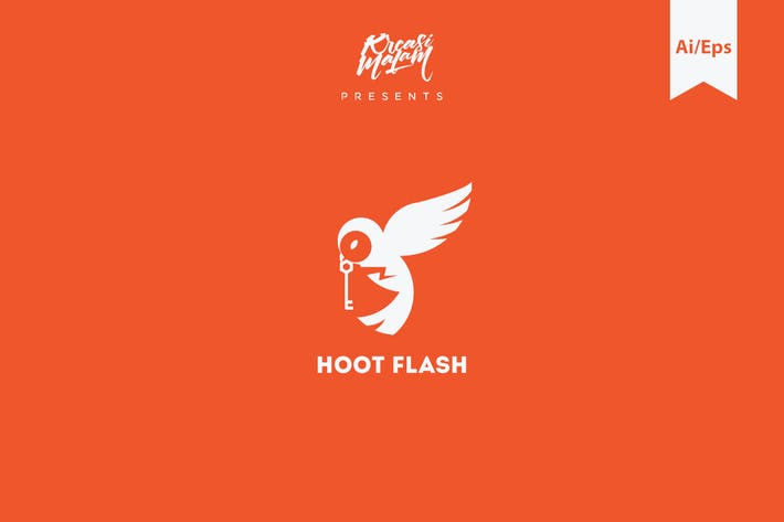 Thumbnail for Hoot Flash Logo Template