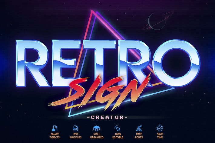 Thumbnail for 80's Retro Sign Creator