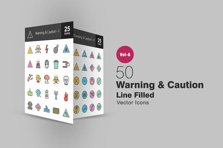 50 Icons für Warn- und Warnhinweise