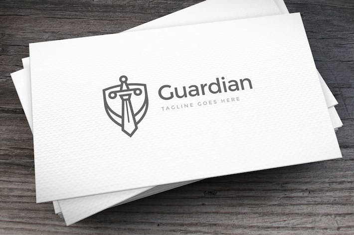 Thumbnail for Guardian Lawyer Logo Template