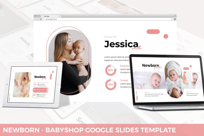 Thumbnail for Newborn - Babyshop Google Slides Template
