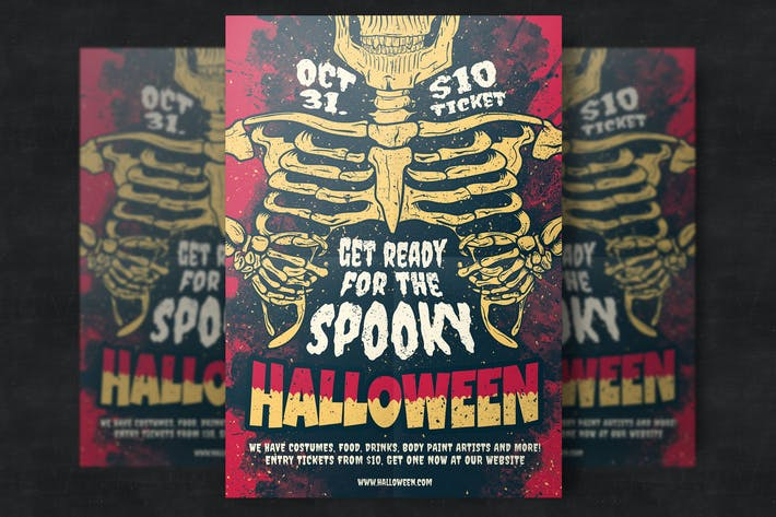 Thumbnail for Halloween Party Flyer Vorlage