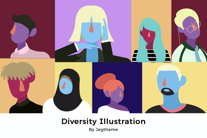 Thumbnail for Diversity People Illustration