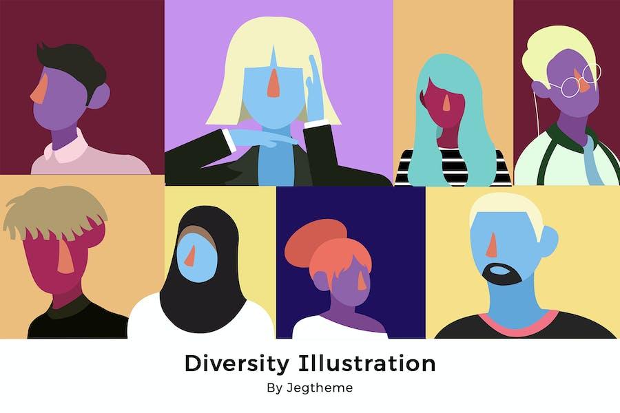 Иллюстрация «Разнообразие людей»
