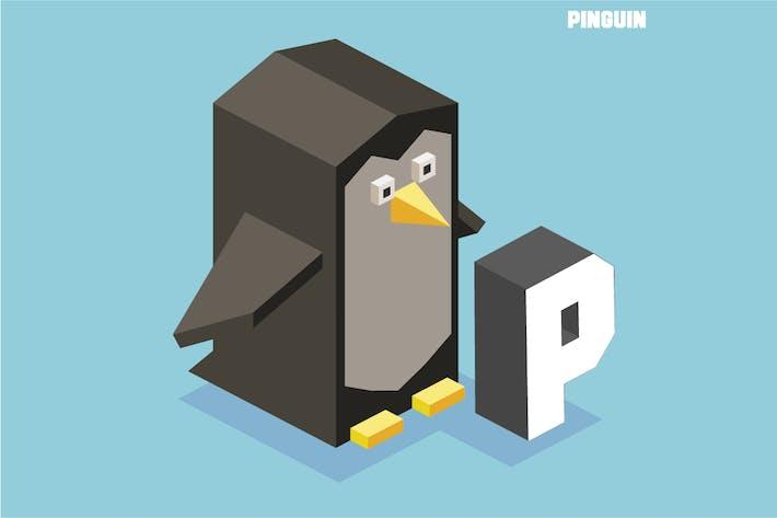 Thumbnail for P for pinguin. Animal Alphabet