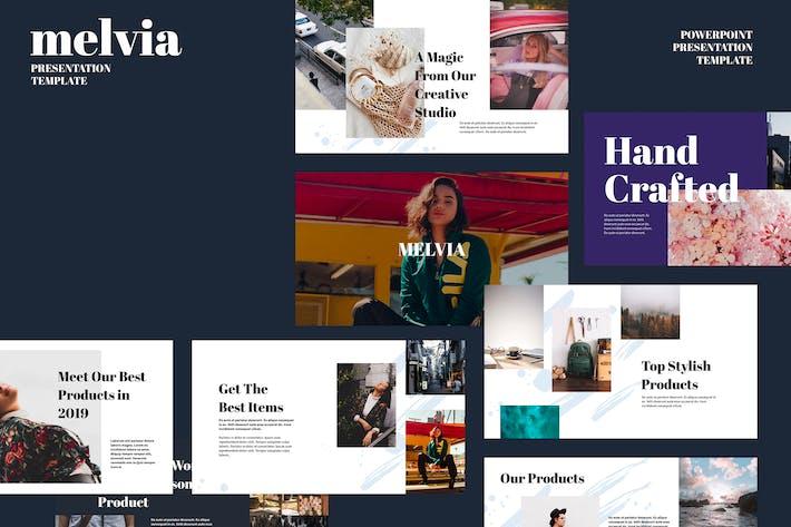 Thumbnail for MELVIA - Шаблон Powerpoint креативного Портфолио