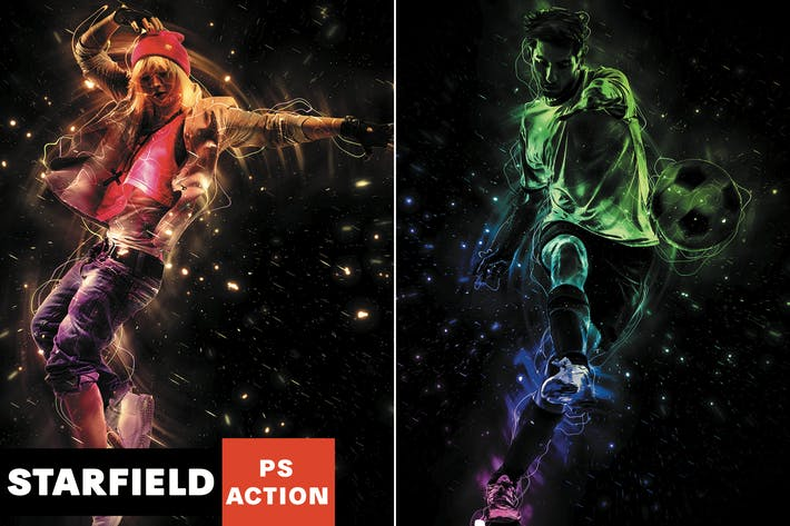 Thumbnail for Starfield Photoshop Action