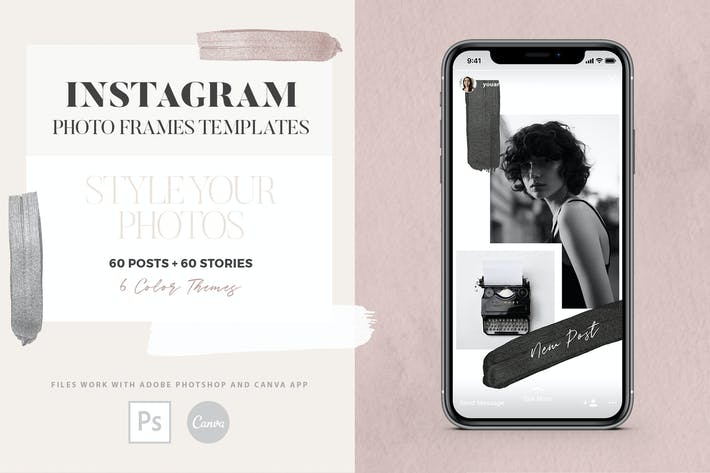Thumbnail for Instagram Photo Frames Templates