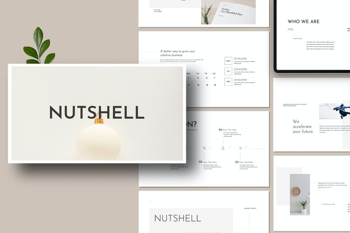 Thumbnail for NutSell - Clean Minimal  Powerpoint Business