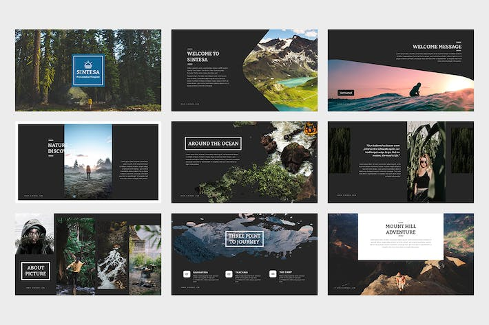 Thumbnail for Sintesa Google Slides Template